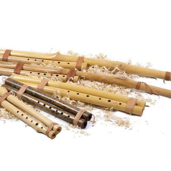 Doppelflöten mit Bordun in gleicher Länge oder doppelt lang
