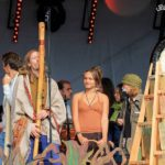 Max brumberg spielt Fujara auf dem Natural Healing Festival