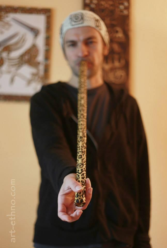 Nadishana Obertonflöte mit Pyrographie von Julia Surba
