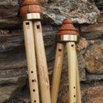 Flöte mit ein oder zwei Bordunen
