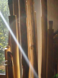 Flöten im Licht