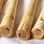 Obertonflöten mit Hasel Block