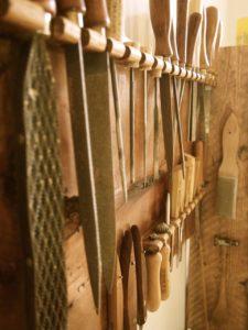 Werkzeuge an der Wand
